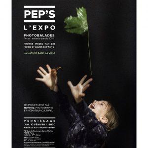 Affiche exposition PEP'S Photobalades Pères-enfants 10ème - La nature dans la ville