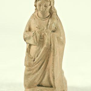 Statuette religieuse avec gravure