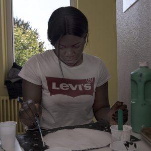 OOK Cité Escale Sainte Monique séance d'apprentissage peinture-multimédia